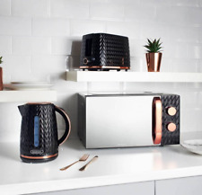 Goodmans Black and Copper Textured Effect Microwave, Toaster or Kettle