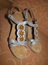 hübsche, graue Sandalette, Jenny by ara, 42, Weite G, Plateausohle