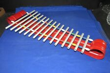 Xylophone Musical Instrument Toy,Steel+Wood Beads+Round Tubes,40's-50's Vintage