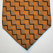 NEW Nautica Silk Neck Tie Yellow with Dark Blue and Beige Pattern 883