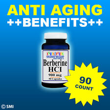Berberine HCI 900mg 90 Caps Depression, Cholesterol, Candida,Heart, Weight Loss