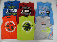 ADIDAS NWT Boys Tee Top Muscle Shirt 2 2T 3 3T 4 4T 5 6 7 7X Basketball Soccer