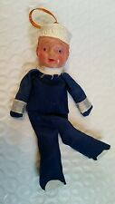 1940s Vintage US Navy SAILOR DOLL Japan Celluloid doll ~ Rohr Cosmic Artifacts
