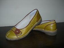 BRAN'S WOMEN'S SHOES ART COMPANY STYLE SLIP ON MUSTARD LEATHER EU 37 / UK 4 WIDE