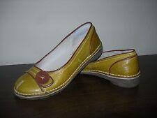 BRAN'S Chaussures Femmes Art Company Style À Enfiler En Cuir Moutarde Eu 37/UK 4 Large