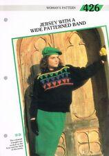 Knitting Pattern de Magazine. à motifs bande de Jersey. Creative Tricot Femme 426