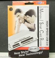 "Smart Card and memory card reader USB 2.0 Internal 3½"" slot black"