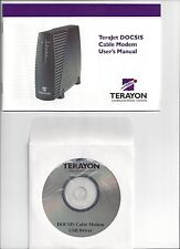 TERAYON TERAJET DOCSIS CABLE MODEM USB DISC, QUICK START & USER'S MANUAL ONLY