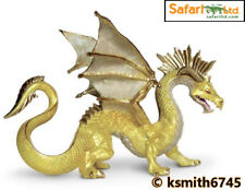 Safari GOLDEN DRAGON solid plastic toy mythical magic fantasy animal * NEW 💥