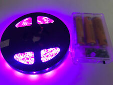 2m long, 120 PINK LED, 3AA Battery Powered Waterproof LED Light Strip