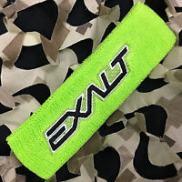 NEW Exalt Paintball Padded Sweatband Headband Head Sweat Band - Lime Green/Black