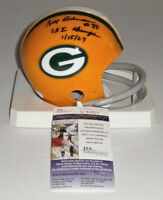 PACKERS Bill Anderson signed mini helmet w/ SB I Champs 1/15/67 JSA COA AUTO