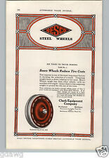 1917 PAPER AD Besco Steel Wheels Car Auto Automobile Clark Equipment Buchanan Mi