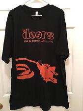 New Boston The Doors Live In Boston April 10, 1970 Throwback Tour T-Shirt 2XL
