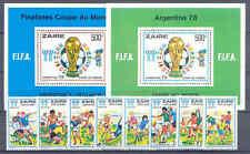 Fußball-WM 1978, Soccer - Zaire - 558-565, Bl.18-19 ** MNH