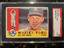 1960 TOPPS SIGNED #35 CARD WHITEY FORD YANKEES BEAUTY HOF SGC