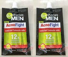 2x7ml Garnier Men Acnefight Whitening Serum Lemon Extract Sun Protection