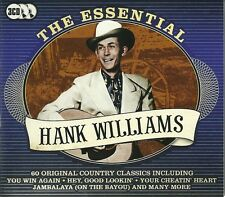 ESSENTIAL HANK WILLIAMS 60 COUNTRY CLASSICS I Saw The Light honky tonk blues mor