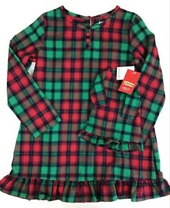 Girls Christmas Pajamas Size 5/6, Matching Doll Jammies For Your Families.