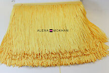 "1 yard 6"" Beige Chainette Fringe Latin Dance Costume Trim"