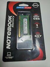 NEW! DANE-ELEC S2D667-06428-R 1GB DDR2 667MHZ RAM NOTEBOOK MEMORY!