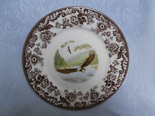 SPODE WOODLAND BIRDS OF PREY SPRING BALD EAGLE RARE 9.25 INCH LUNCHEON PLATE NEW