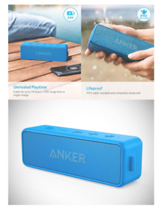 Anker Soundcore 2 Portable Bluetooth Wireless Speaker Better Bass 24-Hour Play
