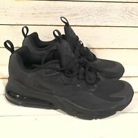 Nike Air Max 270 React GS Triple Black BQ0103-004 Size 5.5Y / 7 Women's