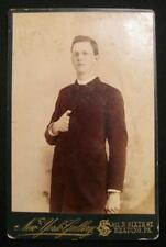 Man In Napoleonic Pose Cabinet Card Photograph New York Gallery Reading Pa (O)