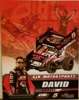 Signed David Gravel Handout World of Outlaw Big Game Treestands Free Shipping