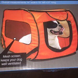 Pet Crate Carrier Travel Cat Dog Kennel Soft Side Collapsible Pop Up Car Vet Med