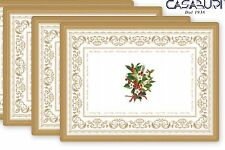 Easy Life Christmas Holly Set 4 Tovagliette in sughero natalizie 40x30 cm