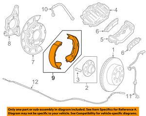 GM OEM Parking Brake-Shoes 23458645