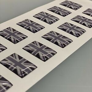 50mm UNITED JACK ENGLAND UK FLAG Sticker Decal - HIGH GLOSS DOMED GEL FINISH