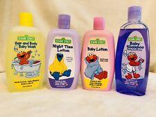 Sesame Street Baby Skin Care Set Baby Shampoo Lotion Night Lotion Hair Body Wash