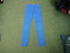 """Rabbit & Cross Bones Slim Jeans W27"""" L27"""" Faded Bright Blue Boys 11/12 Yrs Jeans"""