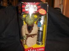 "Hasbro Star Wars Interactive Yoda 2000 Mib About 8"" Tall"