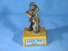 Vintage Signed Zadok Arts Cello Player Sculpture