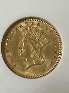 gold coins us: 1874 $1 Gold Coin - Certified ANACS AU58 - Rare Coin!
