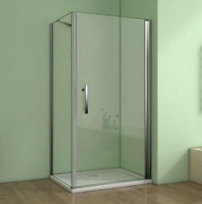 90x90x195cm Duschkabine Schwingtür Duschabtrennung Nano-glas Duschwand Dusche