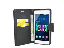 Book-Style Handy Hülle Tasche Zubehör Etui in Schwarz für Wiko FEVER 4G @COFI