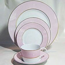 CRINOLINE PINK Raynaud Limoges 5 Piece Place Setting NEW NEVER USED  France