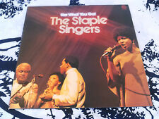 THE STAPLE SINGERS - USE WHAT YOU GOT LP ( COVER ONLY ) N. MINT!!! UK TEXTURED