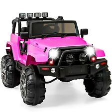 Ride On Sport Jeep Kids Play Car Girls Hot Pink Spring Suspension Remote Control