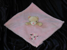 """Baby Gear Pink Cat Kitty Wild Over Daddy Plush Fleece Security Blanket 14"""""""