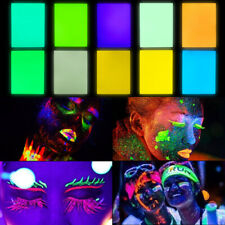Glow in the Dark Pigment Powder UV Fluorescent Craft 10 Colors Total 100g/3.5oz