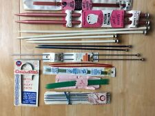 Lot of 11 Knitting Needles, some New, some vintage, variety of sizes,