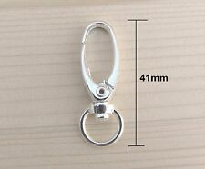 20 pcs. Silver Plated Lobster Swivel Clasps for Key Ring - 41 x 14mm