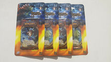 4x WoW TCG Heroes of Azeroth booster packs