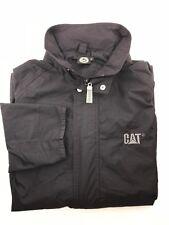 CAT Xtra Large Black Nylon Men's Button Up Rain Jacket/Coat